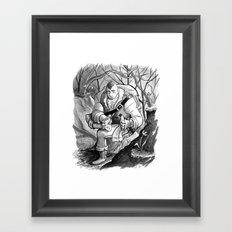 Rock in the Boot Framed Art Print