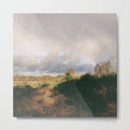Rainclouds. Lynford Water, Norfolk, UK Metal Print