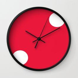 Red Dice 2 Wall Clock