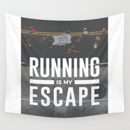 Running Is My Escape Wall Tapestry
