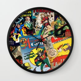 Comics Collage Wall Clock