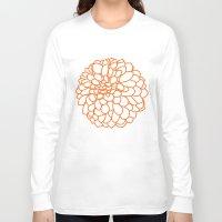 dahlia Long Sleeve T-shirts featuring Dahlia by AleDan