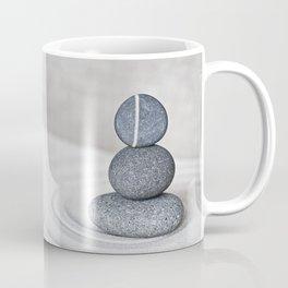 Zen cairn pebble stone balance grey Coffee Mug