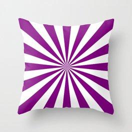 Starburst (Purple/White) Throw Pillow