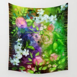 Floral Fantasy 8 Wall Tapestry