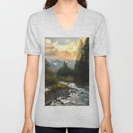 The Sandy River I - nature photography Unisex V-Neck