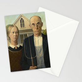 AMERICAN GOTHIC - GRANT WOOD Stationery Cards