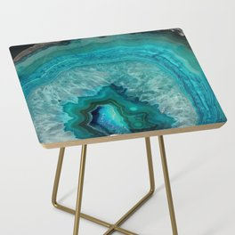 Teal Agate Side Table