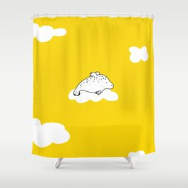 Flying Manatee by Amanda Jones Shower Curtain