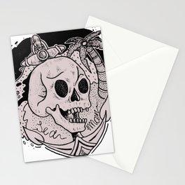 Sea Man Summer Tattoo Stationery Cards