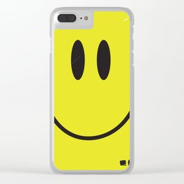 Acid house '91 vintage smiley face Clear iPhone Case
