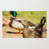 duck Area & Throw Rugs featuring duck by LainPhotography