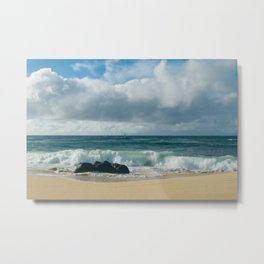 Hookipa Beach Pacific Ocean Waves Maui Hawaii Metal Print