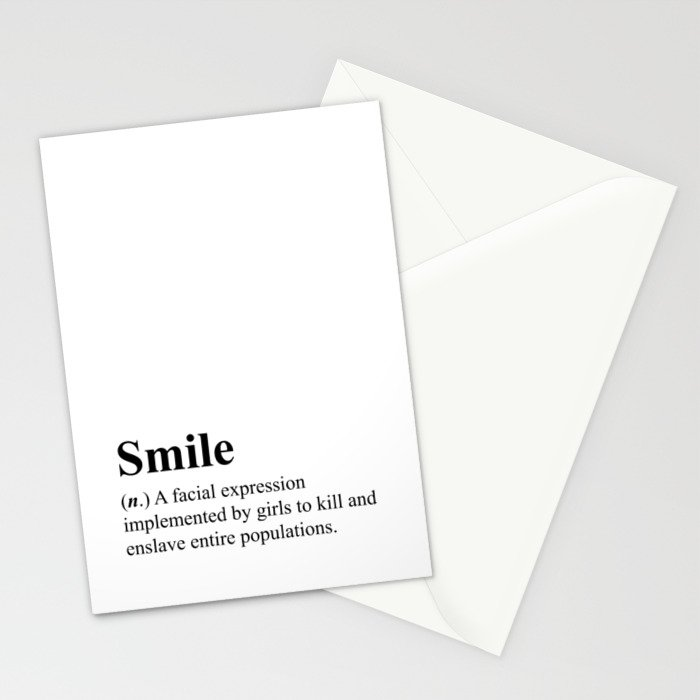 smile definition hipster dictionary 001 stationery cards by