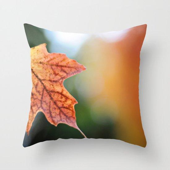 Autumn, the year's last, loveliest smile. Throw Pillow