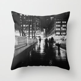 New York City Noir Throw Pillow