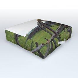 Wagon in the Field Outdoor Floor Cushion