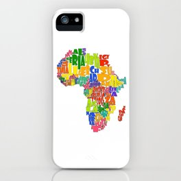 African Continent Cloud Map iPhone Case