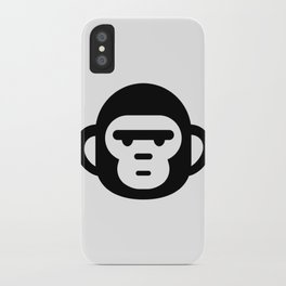 The grumpiest monkey. iPhone Case