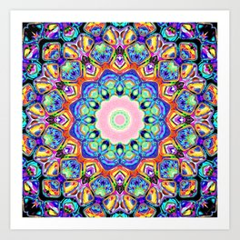 Abstract Spectral Pattern Art Print