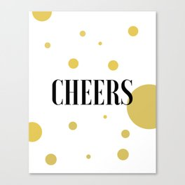 POP FIZZ CLINK Black And Gold Party Decorations Champagne Gift Champagne Quotes Cheers Sign Printabl Canvas Print