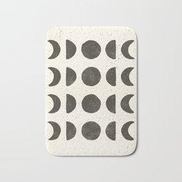 Moon Phases - Black on Cream Bath Mat