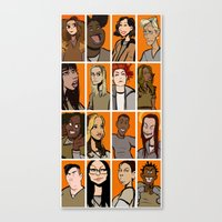 oitnb Canvas Prints featuring oitnb by stevie borbolla