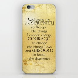 Serenity Prayer Kelt on Yellow iPhone Skin