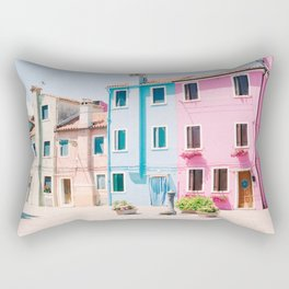 Colorful houses in Burano Rectangular Pillow