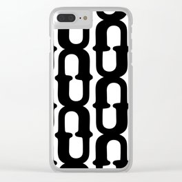 LETTERNS - U - Cooper Black Clear iPhone Case