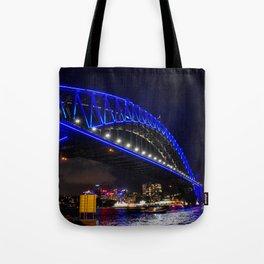 Blue Harbour Bridge Tote Bag