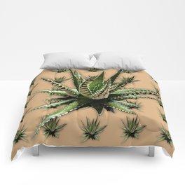 Aloe Vera abstract field Comforters