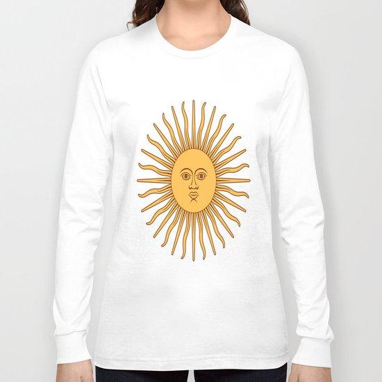 argentina flag sun Long Sleeve T-shirt