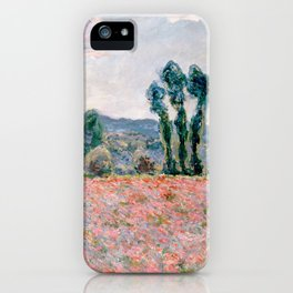 Poppy Field in Giverny by Claude Monet iPhone Case