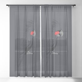 Palm Cockatoo Sheer Curtain
