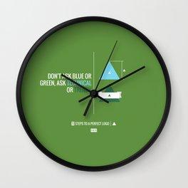 Perfect Logo Series (9 of 11) - Green Wall Clock