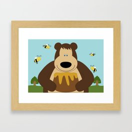 I ♥ honey Framed Art Print