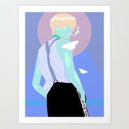 Yuta Butterfly Prince Neon Vector Art Print