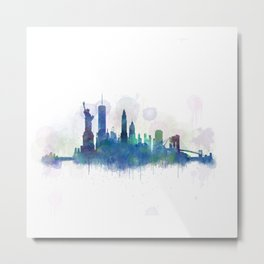 NY New York City Skyline Metal Print