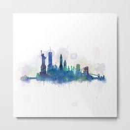 NY New York City Skyline Metal Print