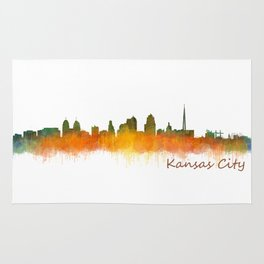 Kansas City Skyline Hq v2 Rug