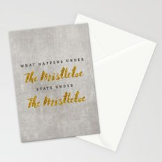 What Happens under The Mistletoe Stationery Cards