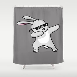 Dabbing Easter Bunny Shower Curtain