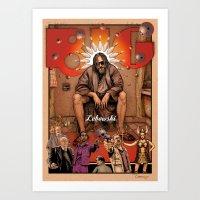 the big lebowski Art Prints featuring Big Lebowski by ZIMZONOWICZ