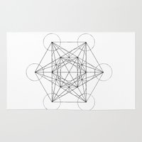 sacred geometry Area & Throw Rugs featuring Sacred Geometry Print 3 by poindexterity
