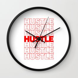 Hustle Thank You Plastic Bag Typography Wall Clock