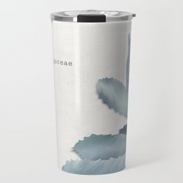Agave, botanic print - grey Travel Mug