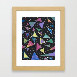 Triangle Abstract Design. Framed Art Print