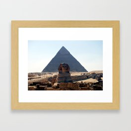 The Great Sphinx of Giza, Cairo, Egypt Framed Art Print