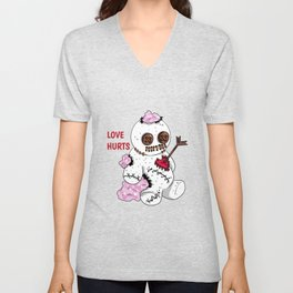 love hurts voodoo doll Divorce Break Up Unisex V-Neck